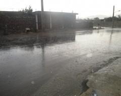 بارندگی شدید در منطقه لنده